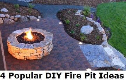 DIY fire pit, popular fire pits, fire pit ideas, easy fire pit projects, popular pin, backyard projects, backyard remodeling, home upgrades, DIY backyard projects