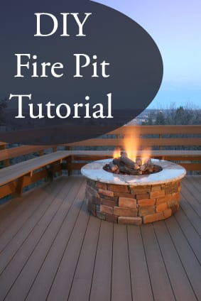 Easy to build fire pit