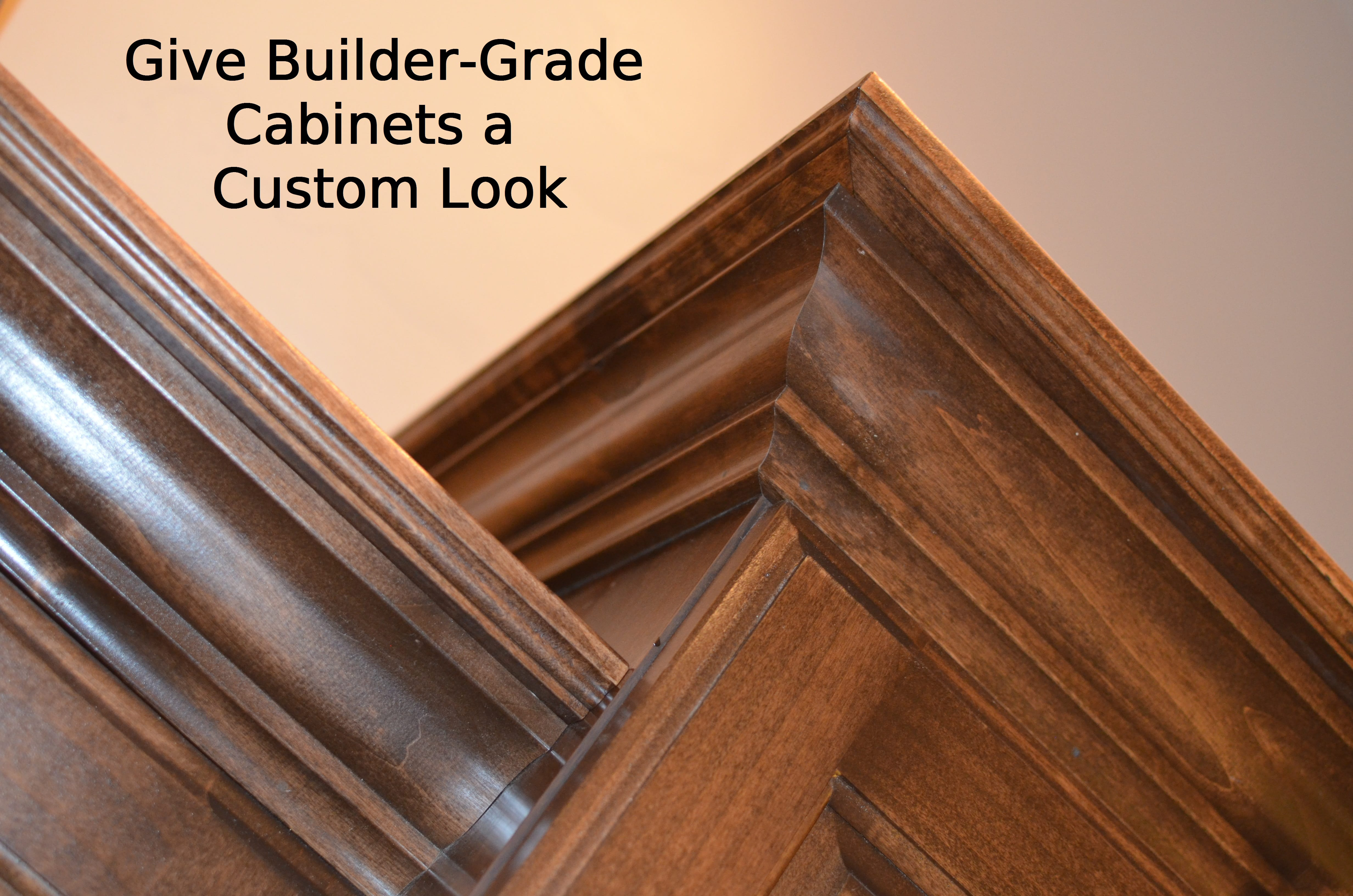Give builder grade cabinets a custom look how to build it - Builder grade oak kitchen cabinets ...