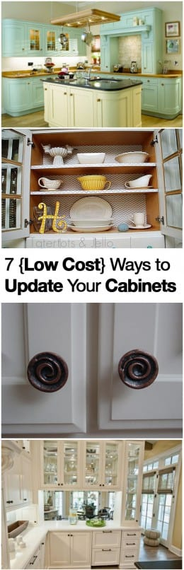 7 {Low Cost} Ways to Update Your Cabinets
