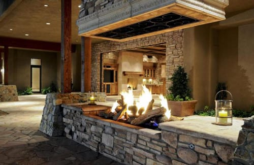 Outdoor fireplace how to build it for Building an indoor fireplace