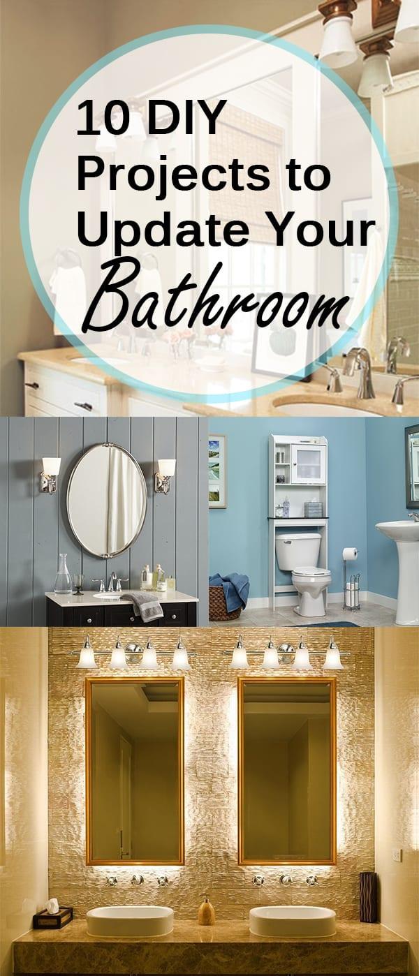 Bathroom projects, bathroom updates, bathroom upgrades, popular pin, DIY bathroom upgrades, decorating a small bathroom, small bathroom decorating tips.