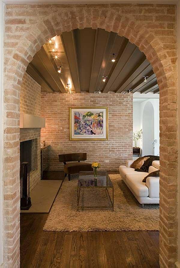 16 Simple Interior Design Ideas For Living Room: 15 Interior Brick Wall Ideas