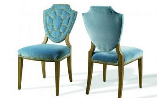 19572 Dining Chair With Bright Blue Motif Modern Furniture
