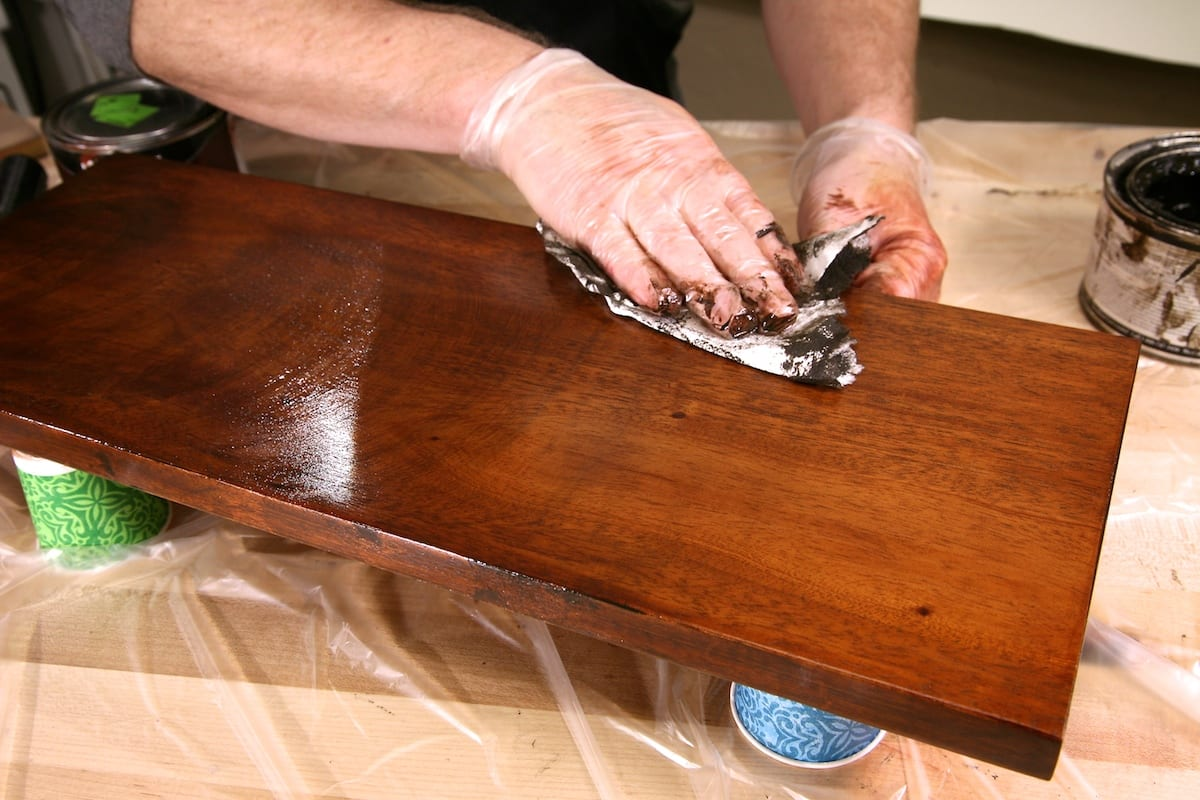 how to lighten stained wood beams