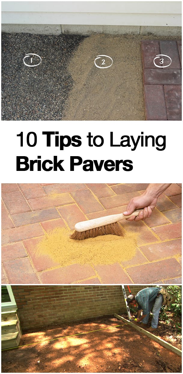 10 Tips to Laying Brick Pavers. How to Lay Brick Pavers, DIY Home, DIY Home Decor, DIY Tutorials, Home Improvement Hacks. #diyhome #diyhomeimprovement #homeimprovement #home #homehacks