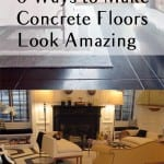 Concrete floor, concrete floor projects, concrete floor revamp, painting a concrete floor, DIY home projects, easy home projects, popular pin, home improvement, easy home improvement.