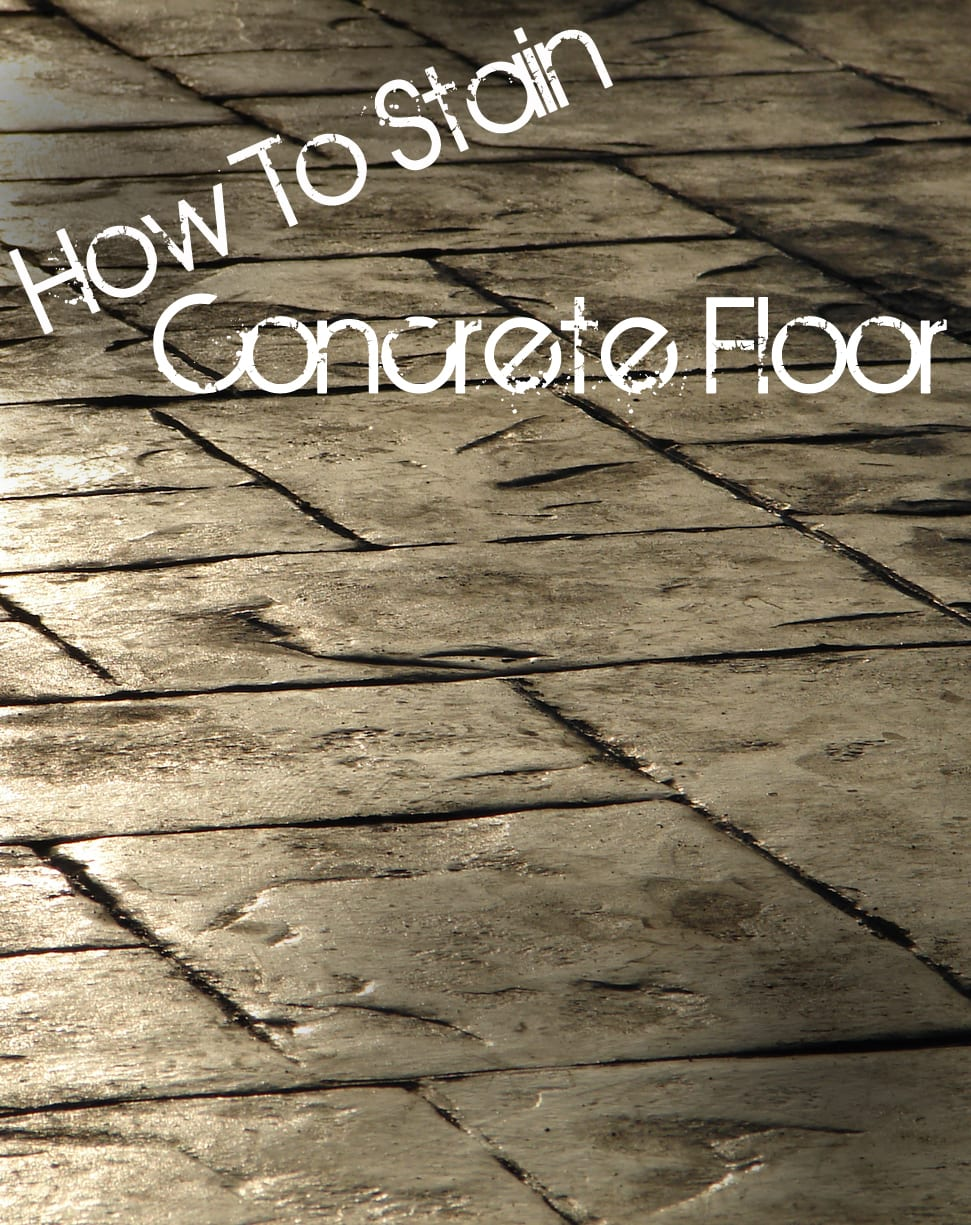 How to stain a concrete floor how to build it for How do you clean concrete floors