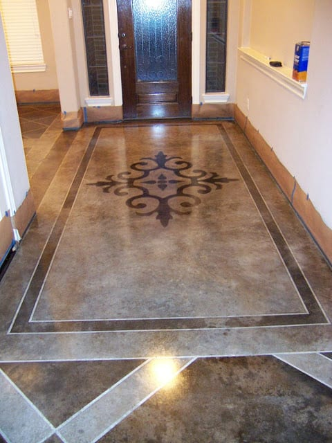How to Stain Your Concrete Floor | How To Build It
