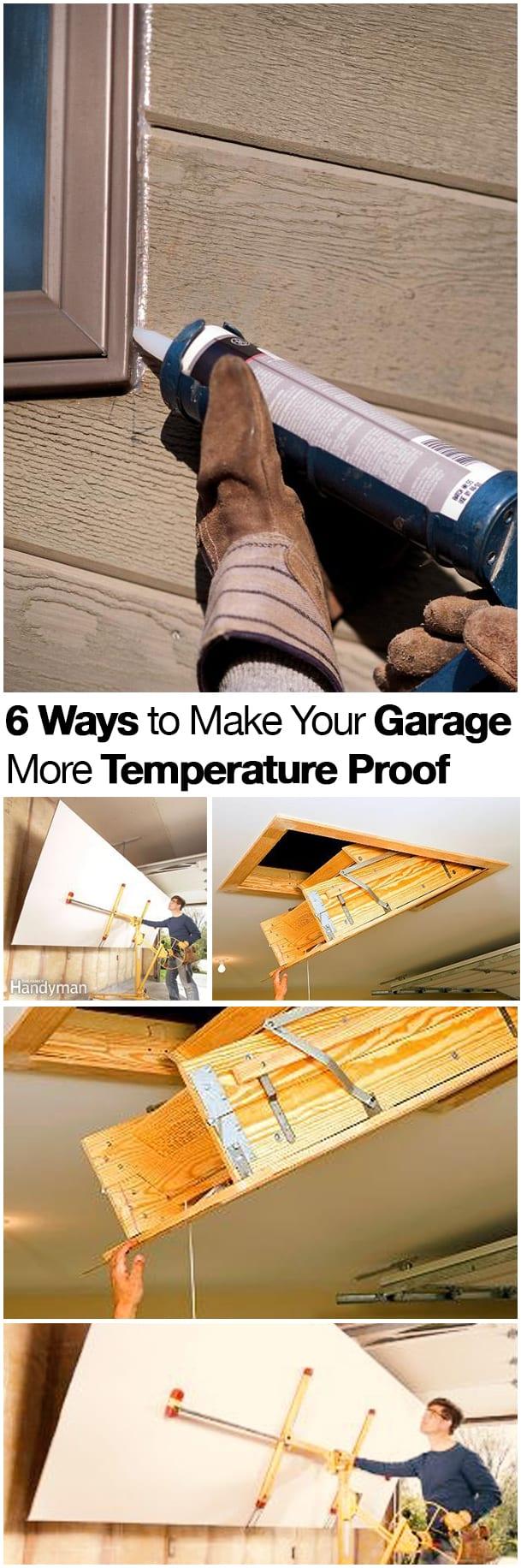 Garage, money saving home improvement, save money, DIY home improvement, popular pin, garage projects, make your garage temperature proof
