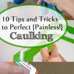 Caulking, painless caulking, popular pin, home upgrades, DIY home upgrades, DIY projects, bathroom updates, easy bathroom remodels, home improvement, DIY home improvement projects.