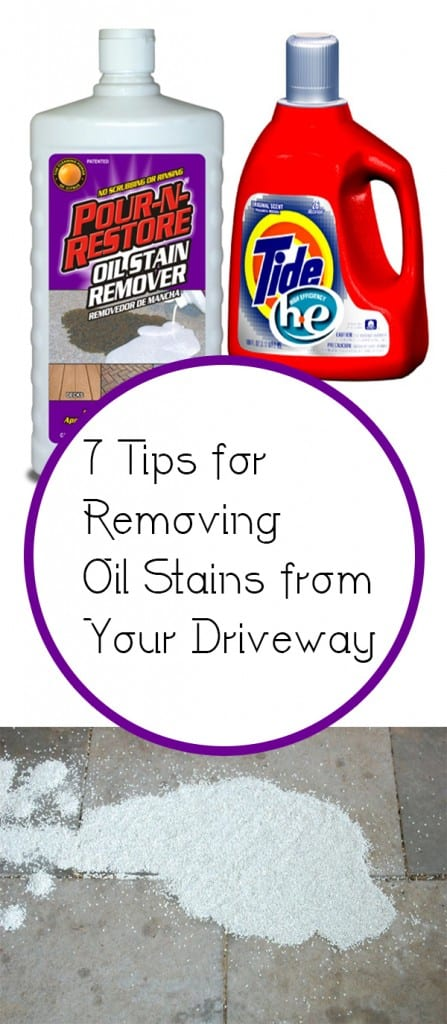 7 tips for removing oil stains from your driveway how to for Driveway stain remover