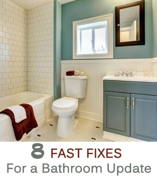 new remodeled blue bathroom with classic white tile how to build it