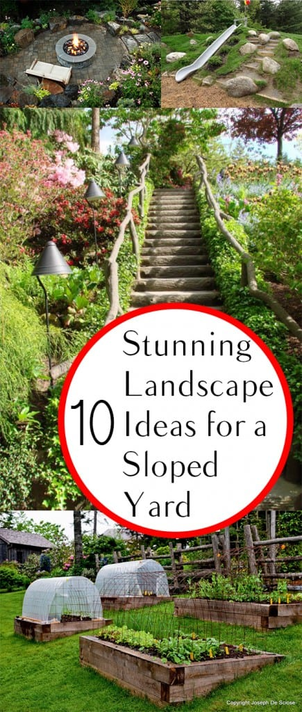 10 stunning landscape ideas for a sloped yard how to for Stunning garden designs