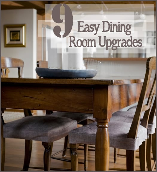 9 easy dining room upgrades how to build it for Dining room upgrades