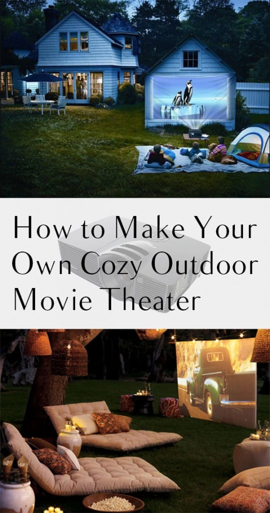 How to Make Your Own Cozy Outdoor Movie Theater