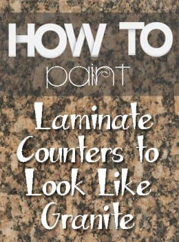 How to Paint Laminate Counters to Look Like Granite