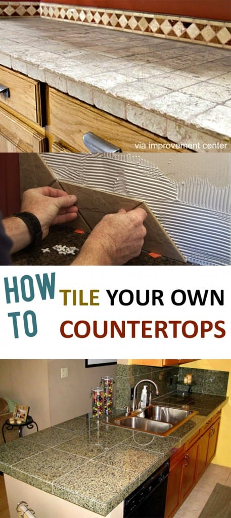 How to Tile Your Own Countertops