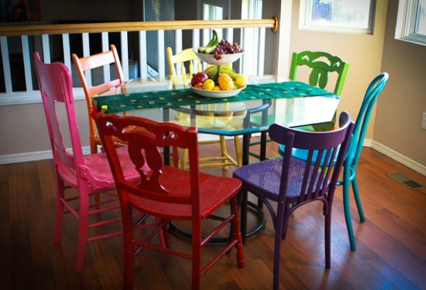 Top 10 thrift store items to revamp how to build it for Different color chairs