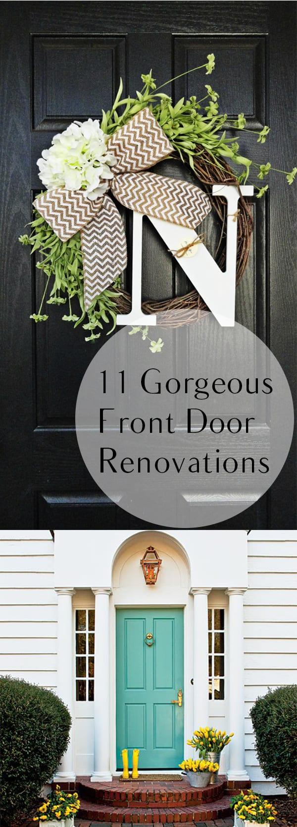 11 gorgeous front door renovations how to build it for Home door decoration ideas