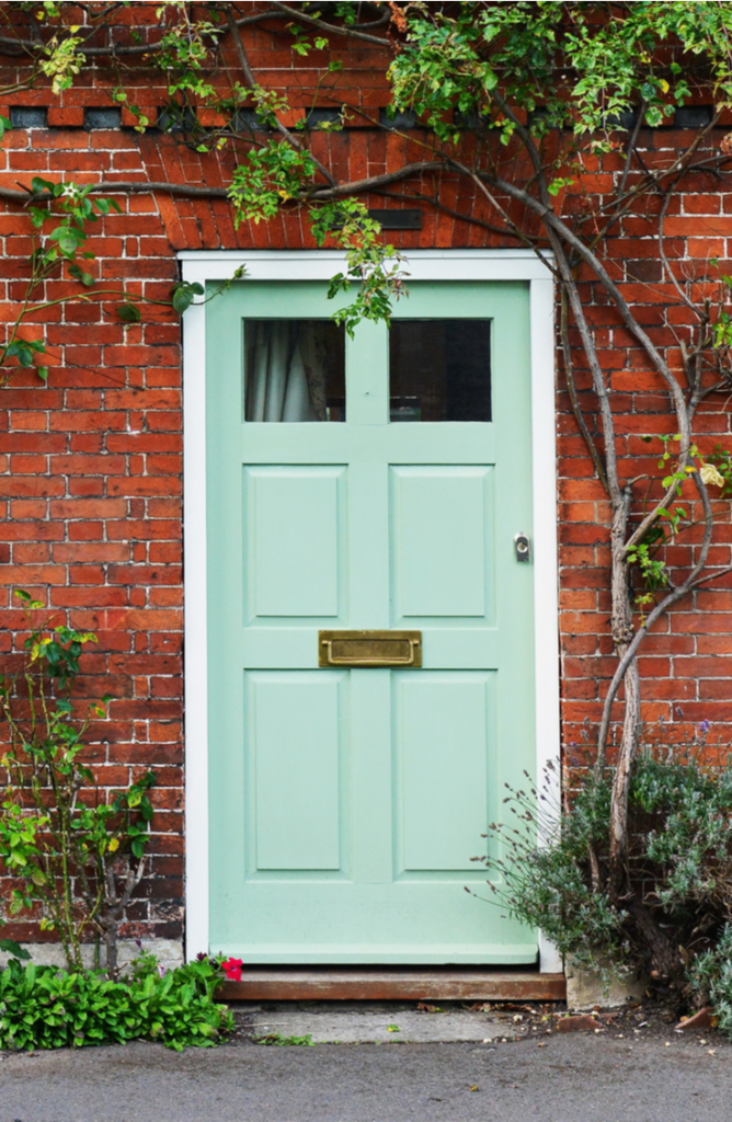 Adding trim around your front door can totally change the whole look of your home! If your front door needs a little love, here 's how to renovate a front door.