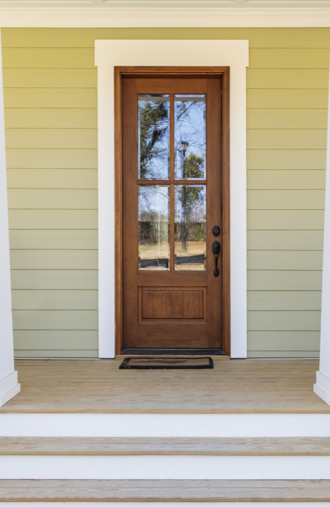 "You can add vinyl lettering to your door that says ""welcome"" to create a welcoming atmosphere. If your front door needs a little love, here 's how to renovate a front door."