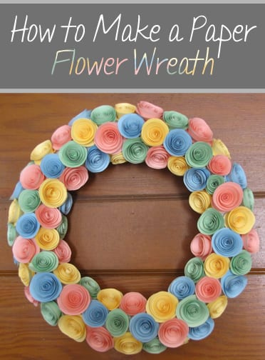 How to Make a Paper Flower Wreath (1)