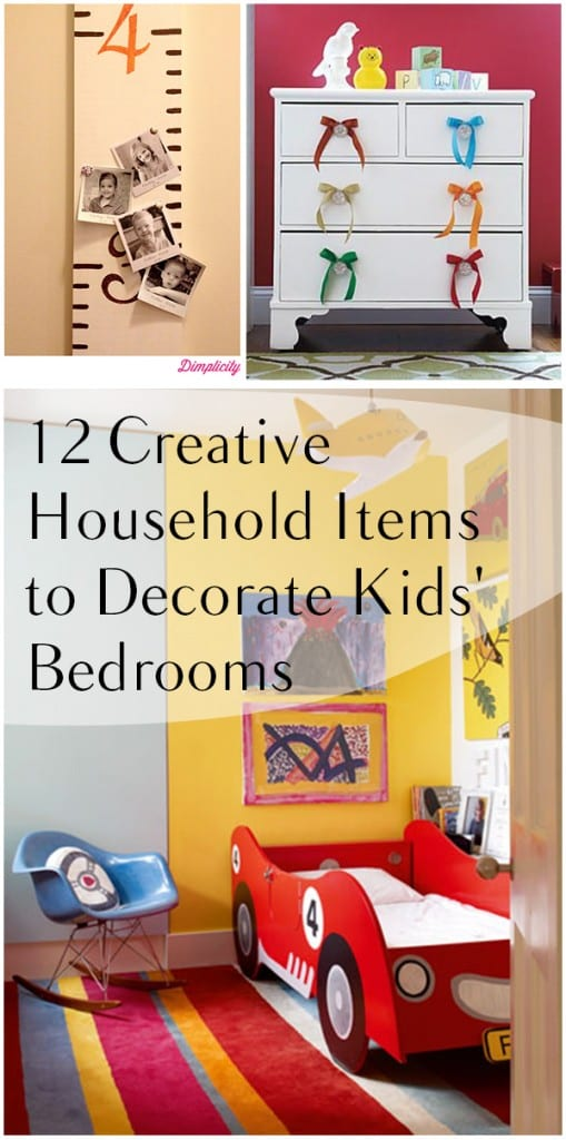 12 creative household items to decorate kids 39 bedrooms