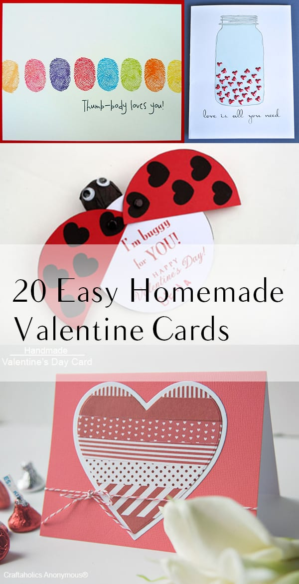 20 Easy Homemade Valentine Cards