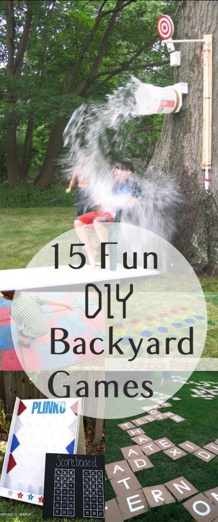 Backyard games, DIY backyard games, backyard entertainment, summer party, outdoor party ideas, DIY outdoor entertainment, outdoor entertainment