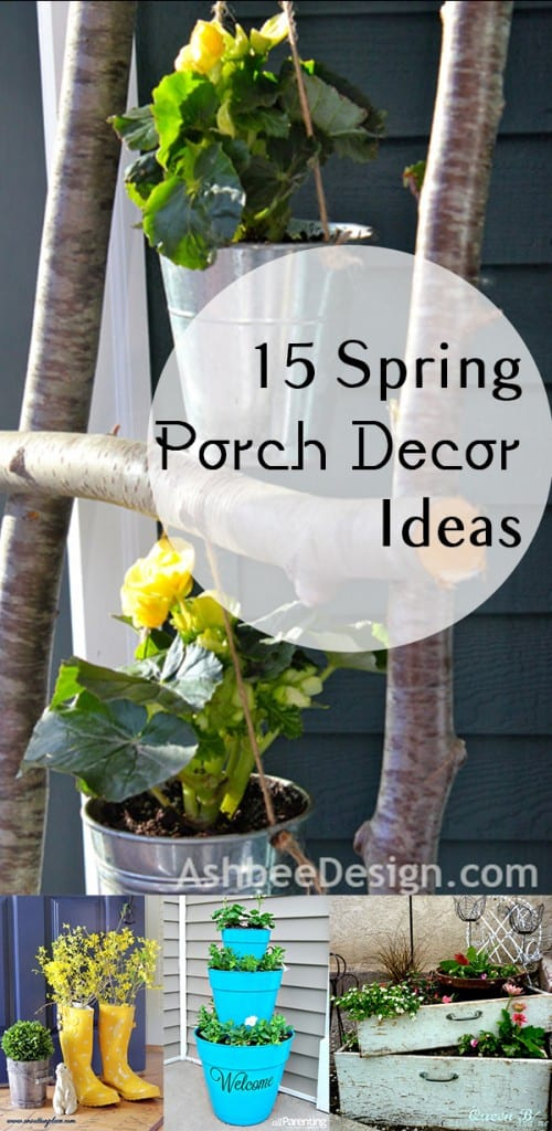 Spring porch decor, porch decor, spring,popular pin, Easter decorations, spring holiday, DIY porch decor, curb appeal projects