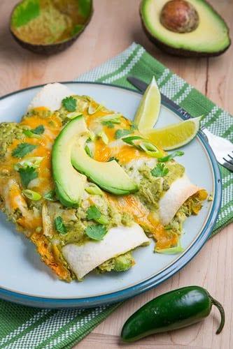 Chicken and Avocado Enchiladas in Creamy Avocado Sauce 500 1219