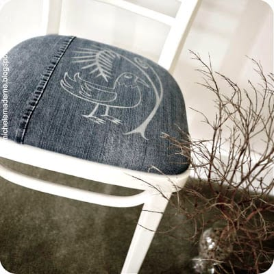 Denim chair cover complete1