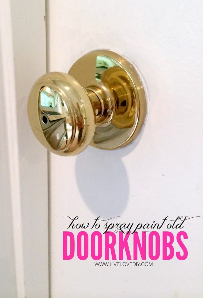 HOW TO SPRAY PAINT DOORKNOBS WITH OIL RUBBED BRONZE