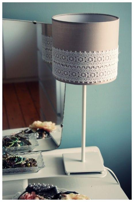 Lace Lampshade DIY