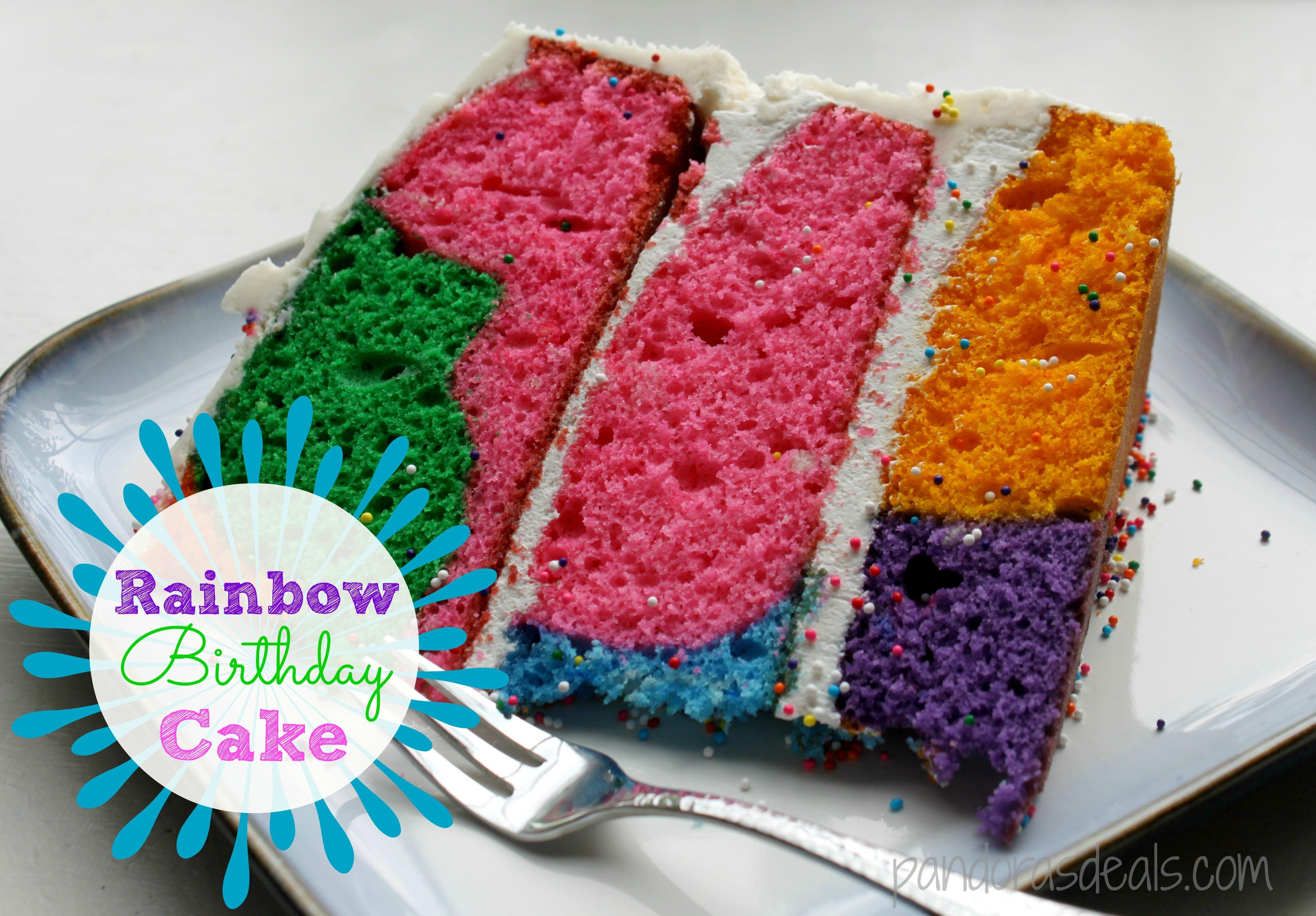 how to make a rainbow cake with cake mix