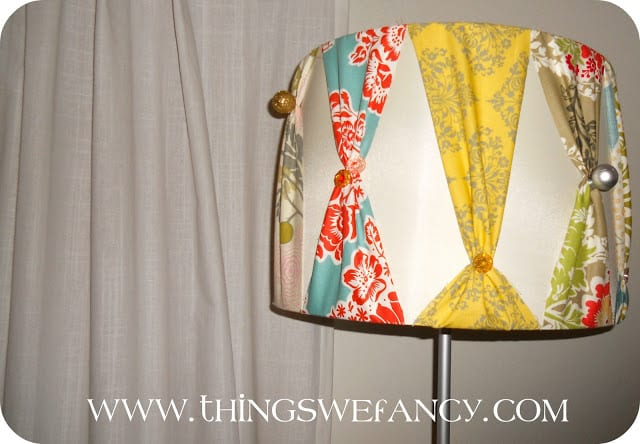 Scrap Fabric Lampshade