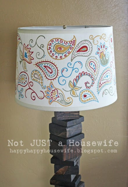 Stenciled Lamp