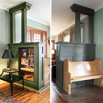 Salvage Built In Room Divider