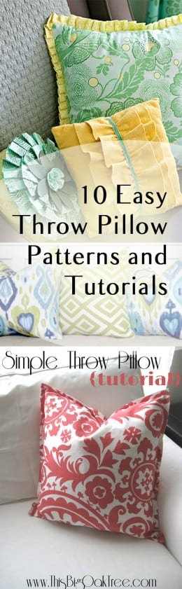 10 Easy Throw Pillow Patterns and Tutorials