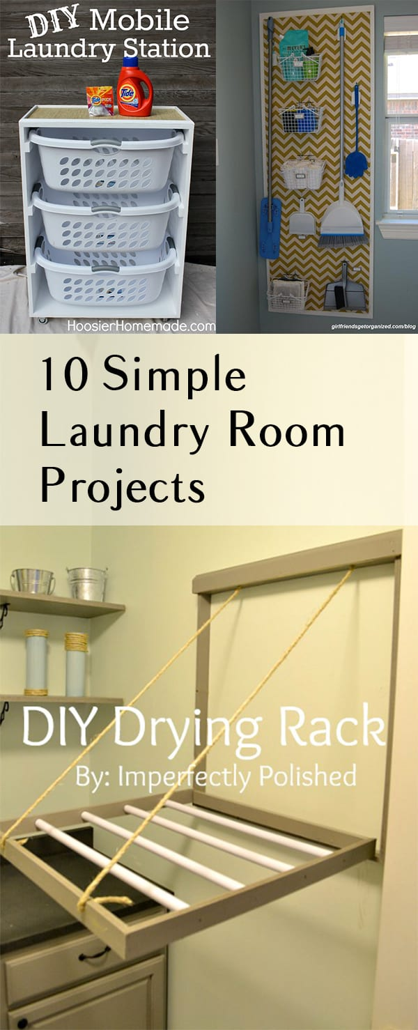 10 Simple Laundry Room Projects. DIY, DIY home projects, home décor, home, dream home, DIY kitchen, DIY kitchen projects, weekend DIY projects. #laundryroom #diylaundryroom #laundry #diyhome #diyhomedecor #easydiys