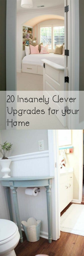 20 Insanely Clever Upgrades for your Home. DIY, DIY home projects, home décor, home, dream home, DIY. projects, home improvement, inexpensive home improvement, cheap home DIY. #homeimprovements #homeimprovementprojects #diyhomedecor #diyhome #diy #homehacks