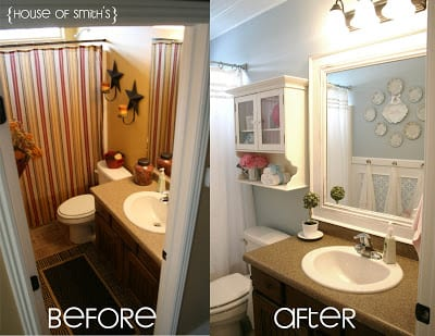 Before and after bathroom (1)