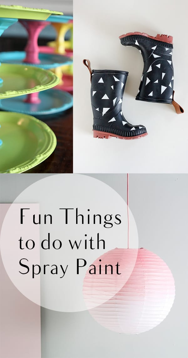 12 fun ways to use spray paint how to build it