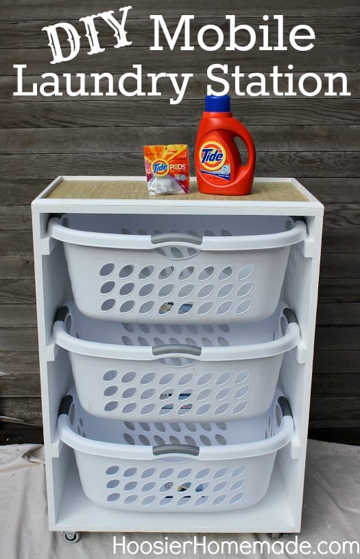 Mobile-Laundry-Station-a simple and quick DIY Laundry room project