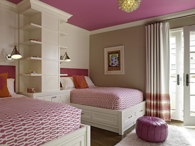 awesome-pink-twin-teenage-girls-bedroom-ideas-with-vivaTerra-lotus-flower-chandelier-also-boston-functional-library-wall-light-as-well-as-annie-selke-links-fabric-plus-ottoman