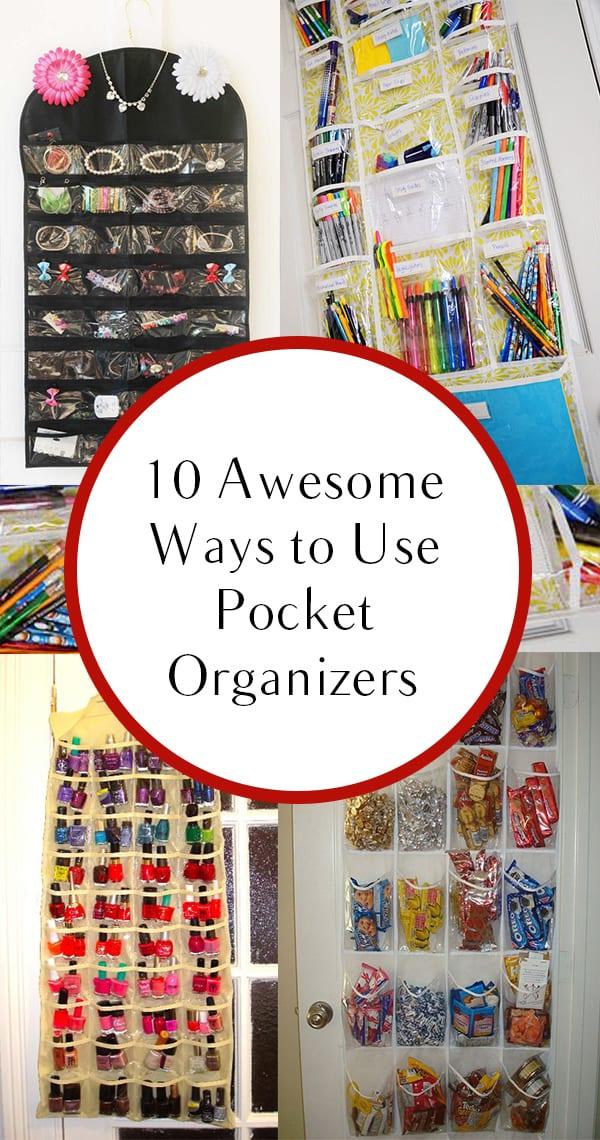 Pocket organizers, pocket organization, awesome pocket organizers, popular pin, DIY storage, DIY organization, easy organization.
