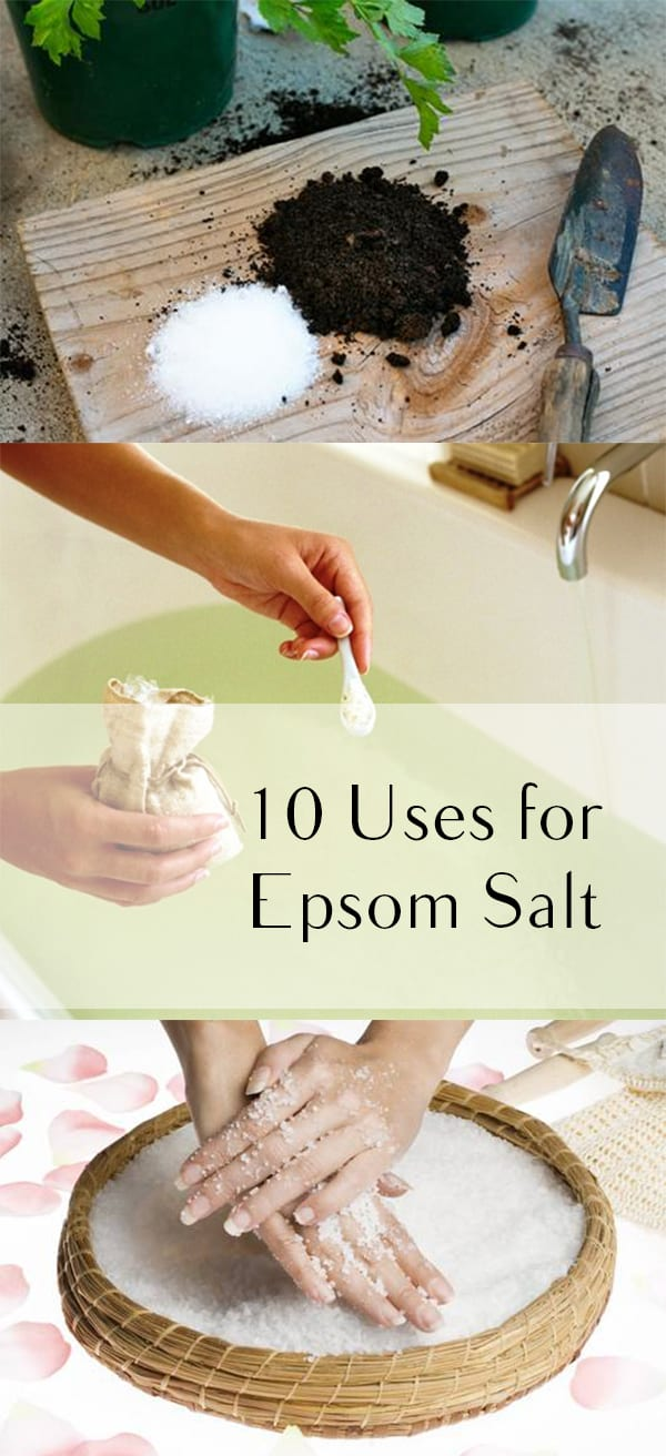 Epsom salt, how to use epsom salt, clever ways to use epsom salt, popular pin, beauty hacks, beauty uses for epsom salt, health and beauty
