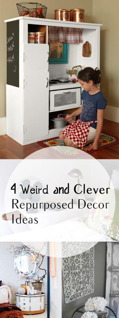 14 Weird and Clever Repurposed Decor Ideas