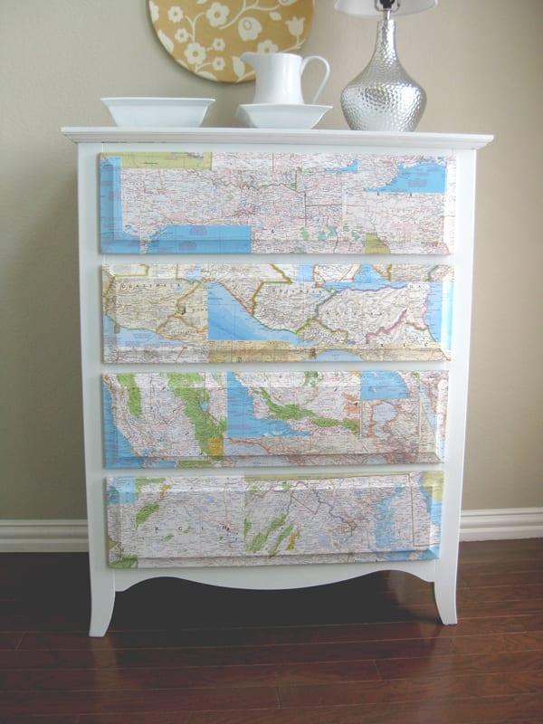 http://www.domesticease.com/2010/09/19/domestic-tricks-1-map-dresser/